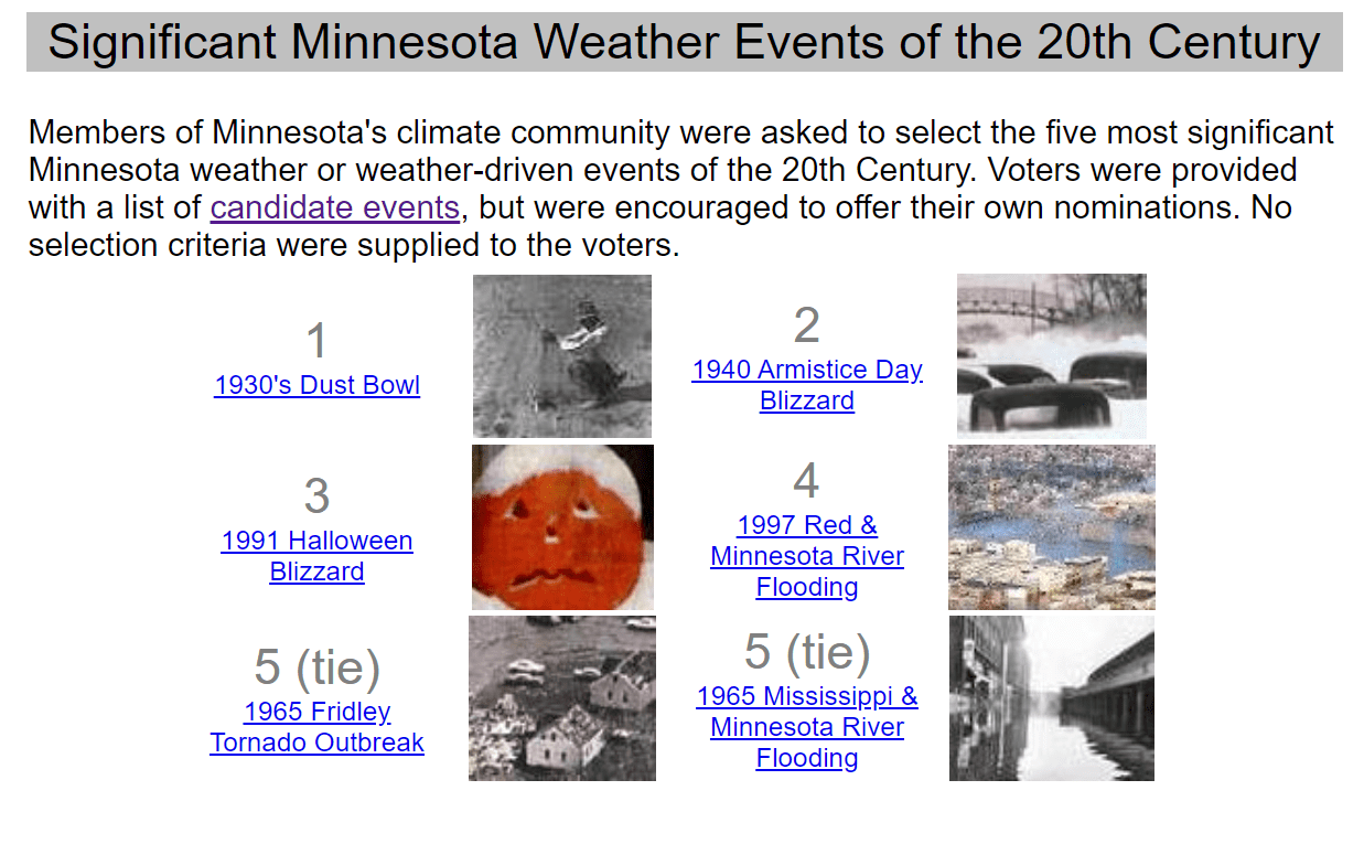 Top 5 weather events in Minnesota history