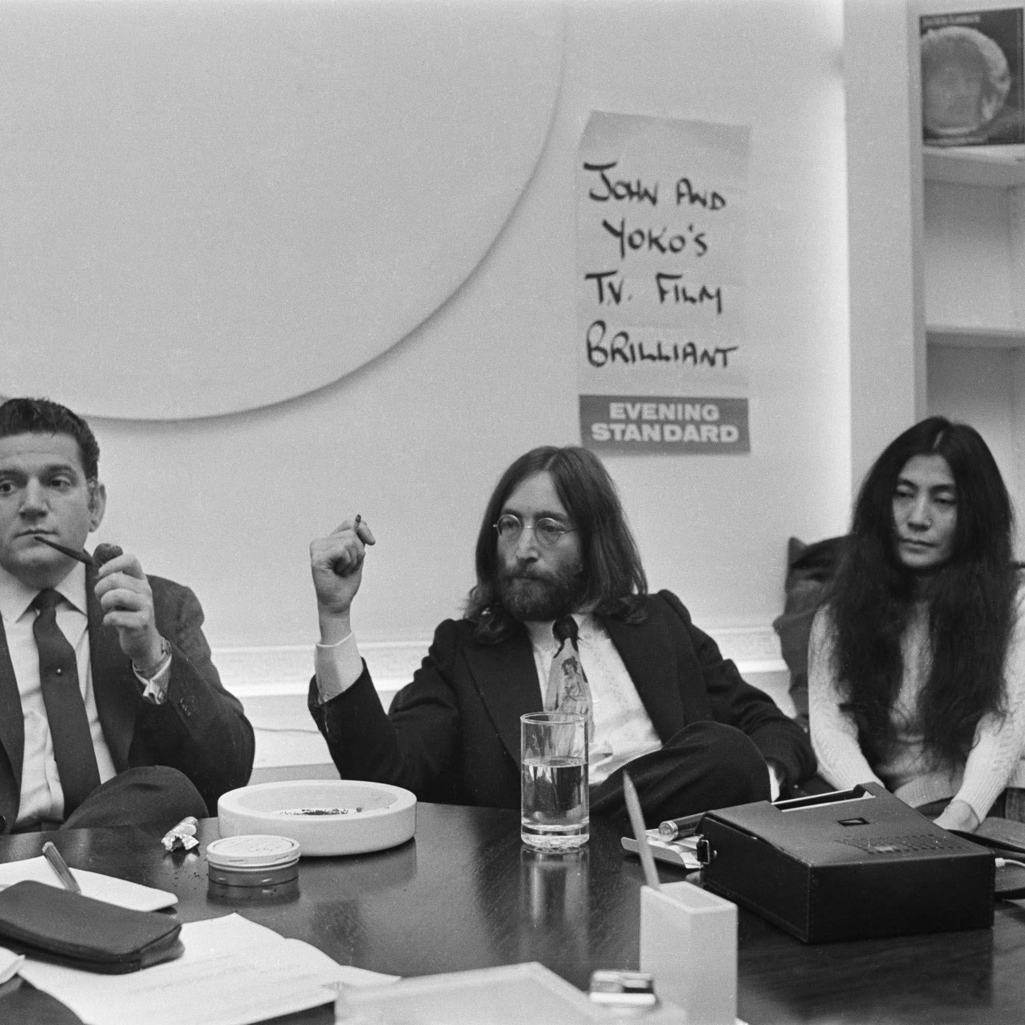 Allen Klein with John Lennon and Yoko Ono