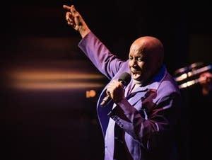 Sonny Knight at the Secret Stash Soul Revue in 2016.