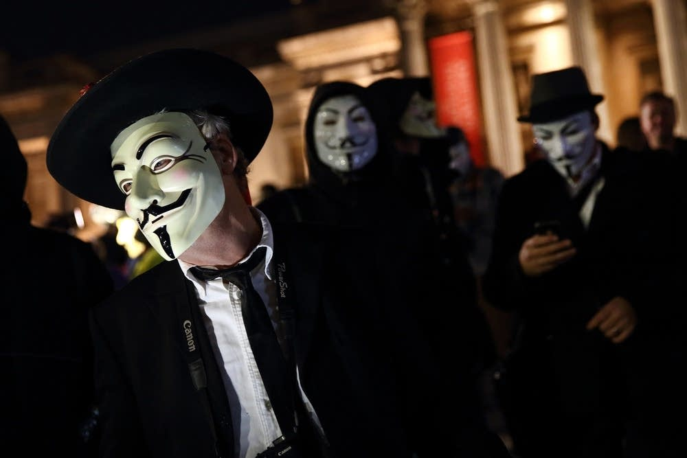 Protesters Gather For Million Mask March
