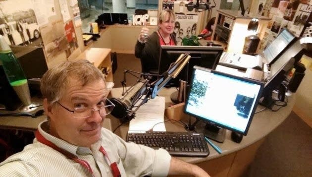 Bob Collins and Mary Lucia in The Current studio