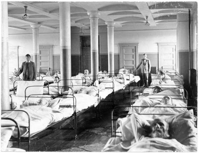 Ward in the Fergus Falls State Hospital, approximately 1900.