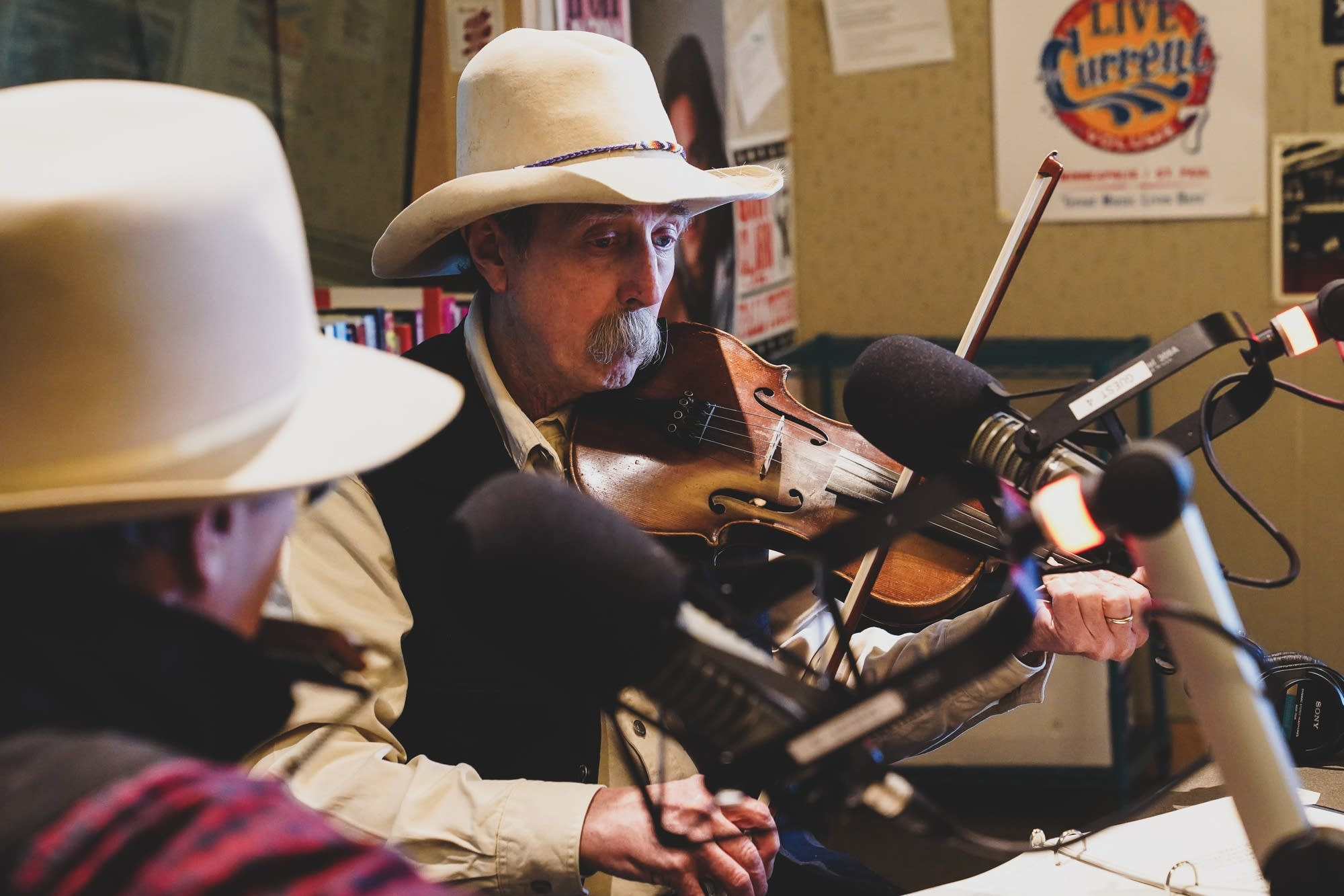 Charlie Maguire and Pop Wagner visit Radio Heartland