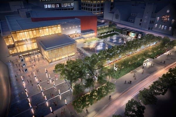 Peavey Plaza, artist concept