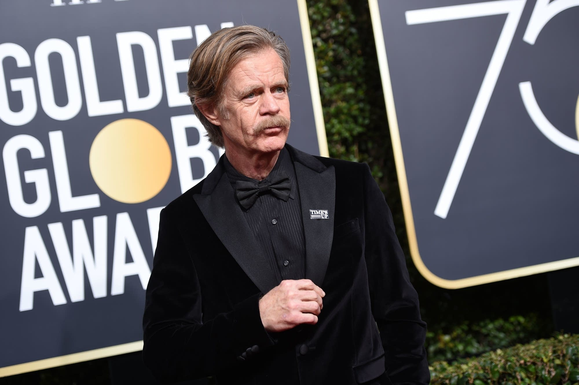 William H. Macy arrives for the 75th Golden Globe awards.