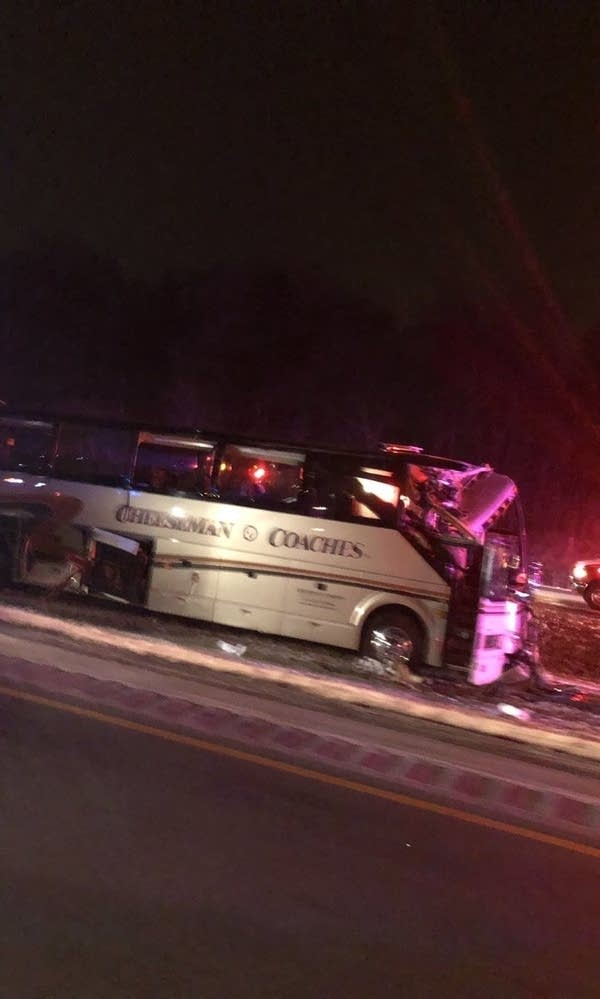 A bus crash on Interstate 94 near St. Michae