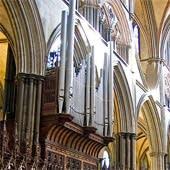 1876 Henry Willis organ at the Cathedral, Salisbury, England, UK