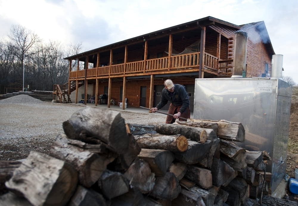 Darwin Woods Stoked A Fire In The Wood Burning Stove That He Uses To Heat  Both Water And His Home In Clark, Mo. Citing Health Concerns, The  Environmental ...
