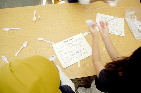 Studying the alphabet