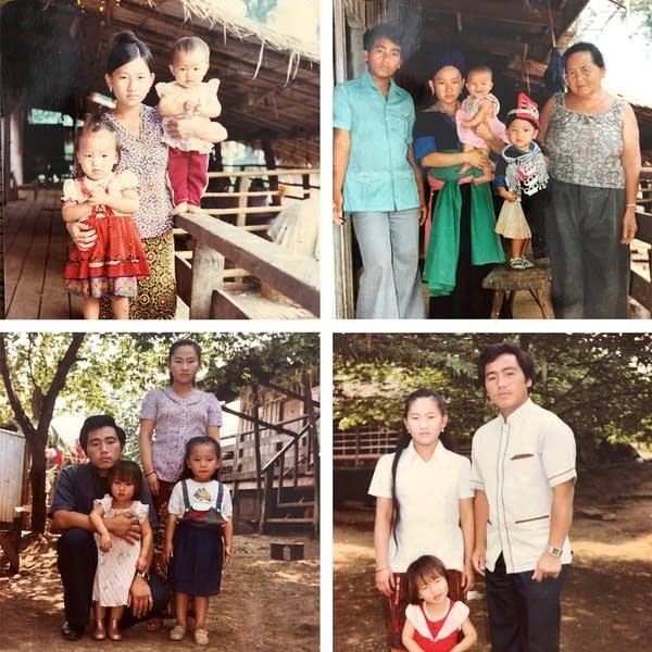 A collection of four family photos.