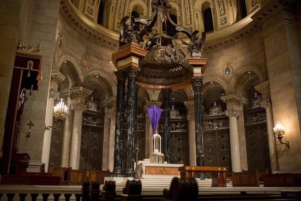 Empty altar