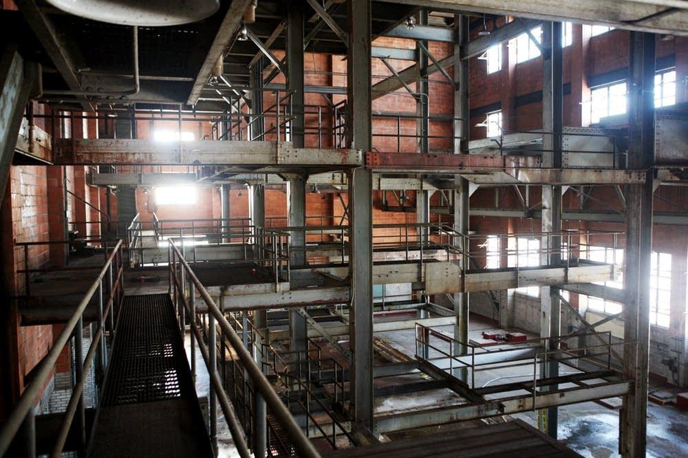 Inside of building