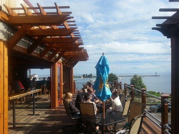 Gunflint Tavern roof deck