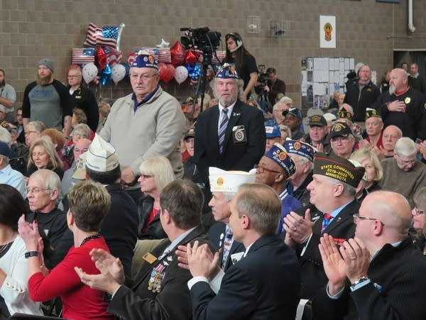 Two veterans are recognized at the state's Veterans Day event