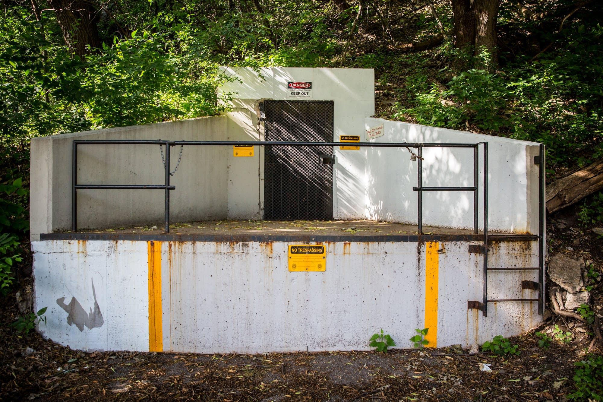 A steam tunnel entrance