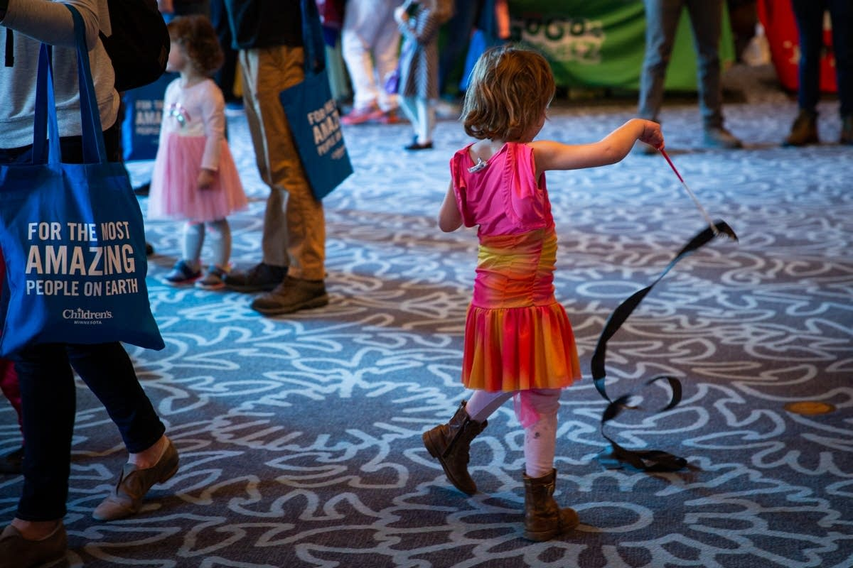 Dancing at the Kids' Disco during Rock the Cradle 2020.