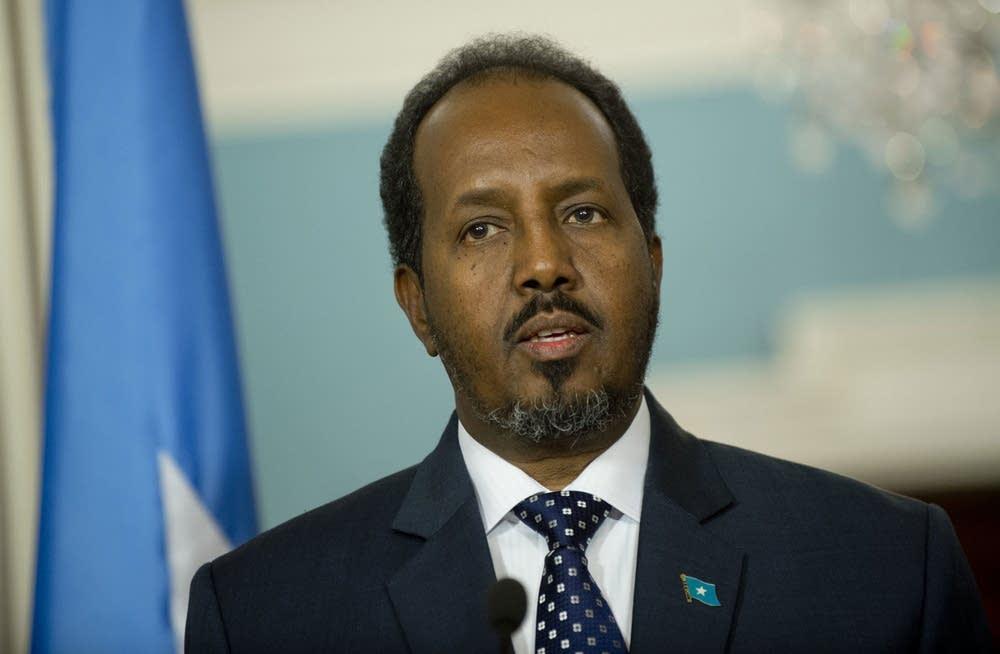 US-SOMALIA-CLINTON-MOHAMUD