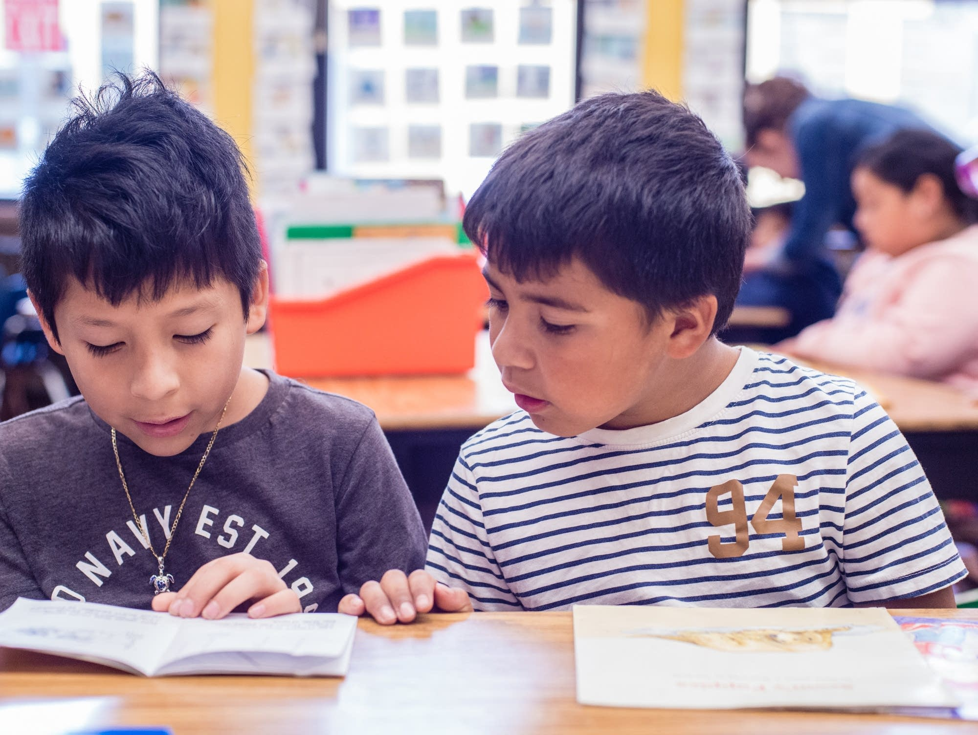 First-graders in Oakland, California, practice reading.