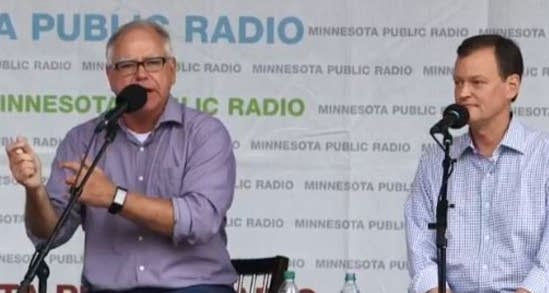 Tim Walz and Jeff Johnson debate at the fair.