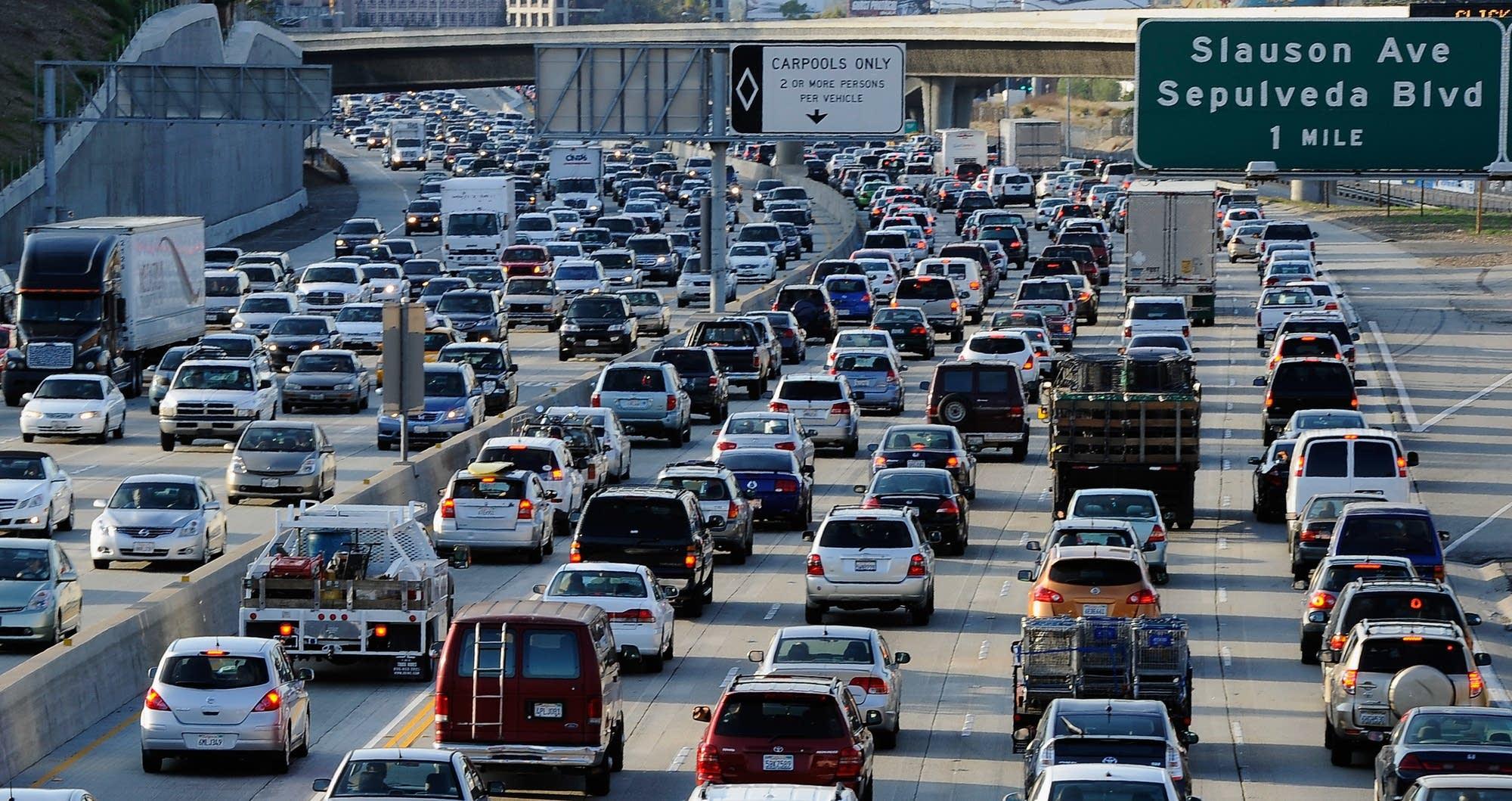 Los Angeles traffic jam