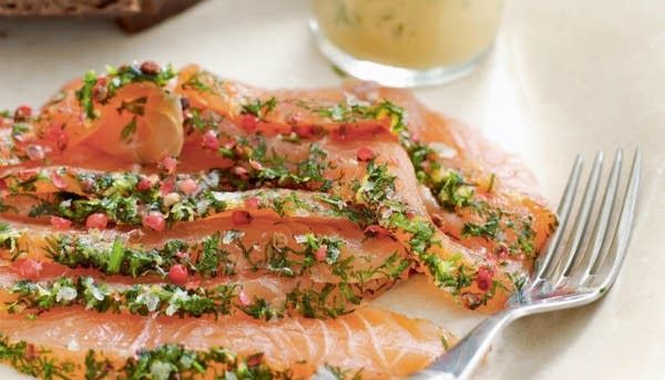 Mormor's Aquavit-Cured Salmon with Mustard Sauce