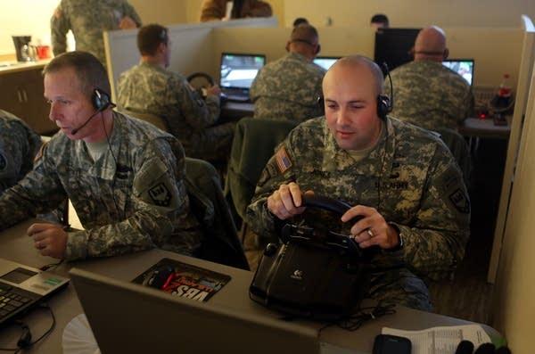 Photos: Video game sharpens Minn  soldiers' skills | MPR News