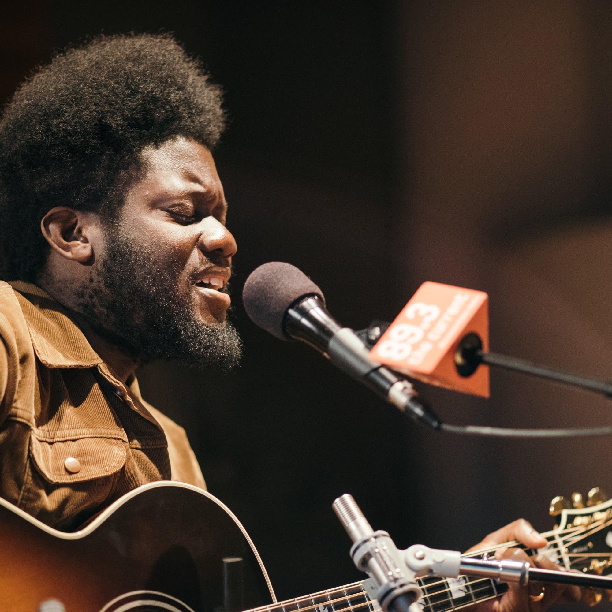 Michael Kiwanuka performs in The Current's studios