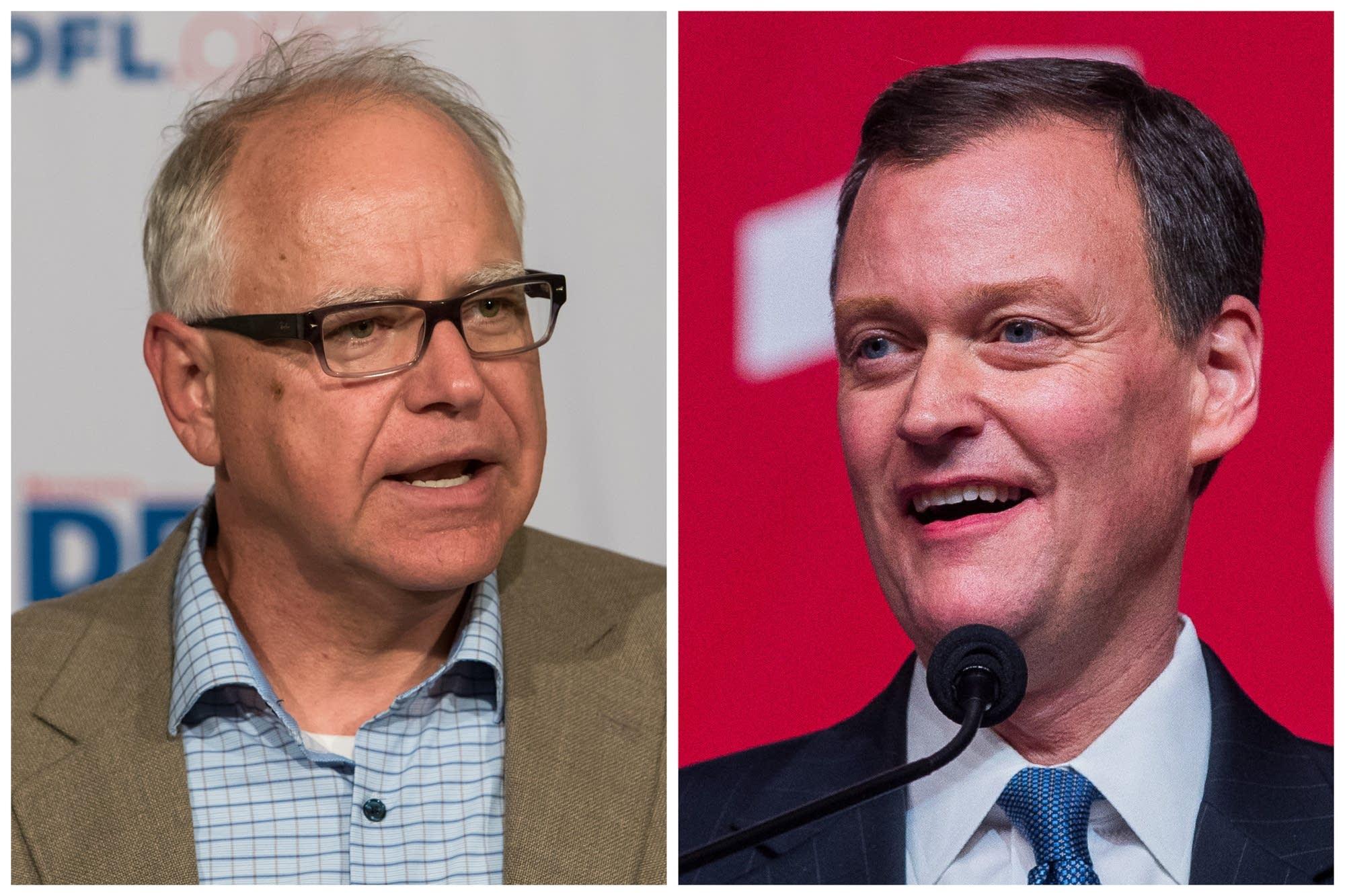 Democrat Tim Walz and Republican Jeff Johnson