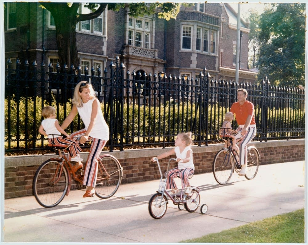 Biking past the Governor's Mansion
