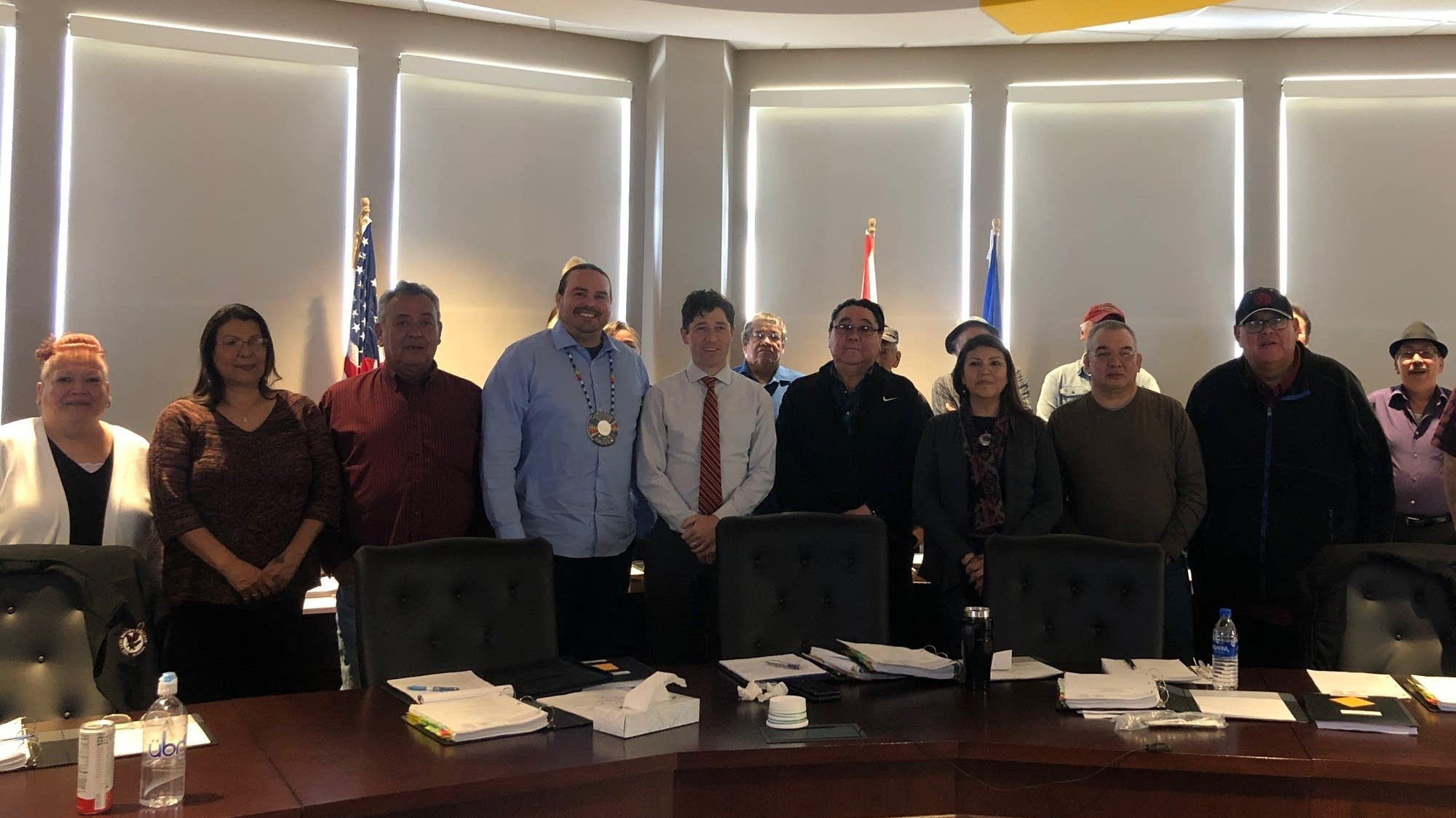 Minneapolis Mayor Jacob Frey with the Red Lake Tribal Council.