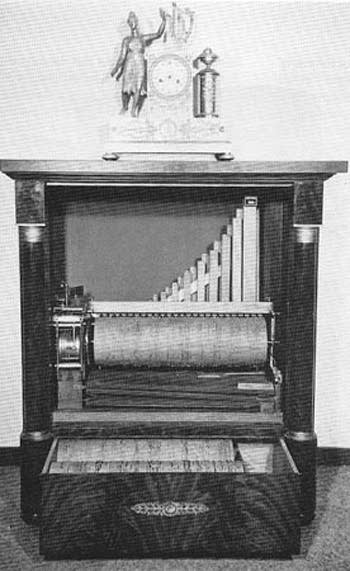 1827 Davrainville player organ in the National Museum, Utrecht, the...