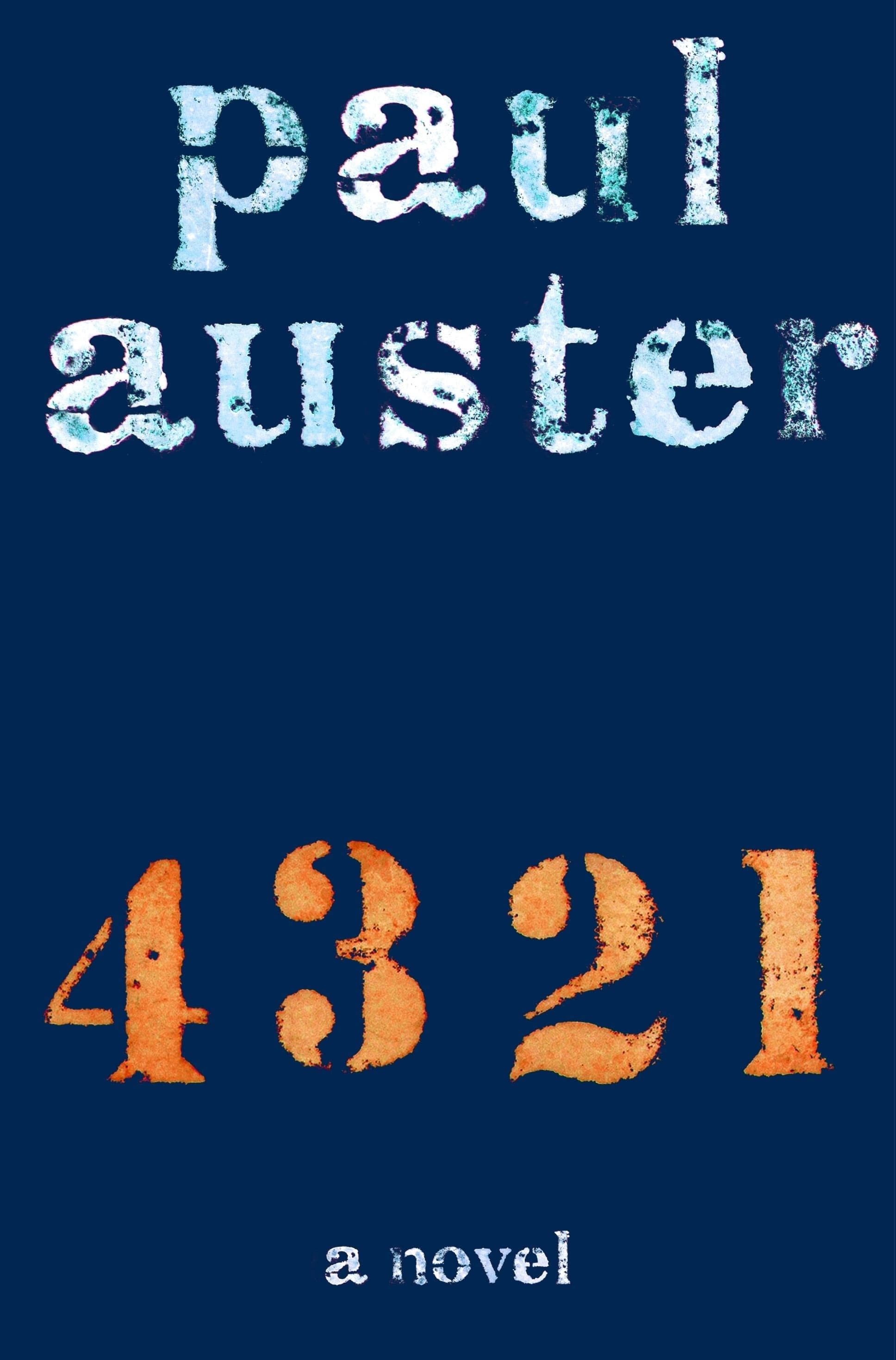 "Book design for Paul Auster's ""4 3 2 1"""