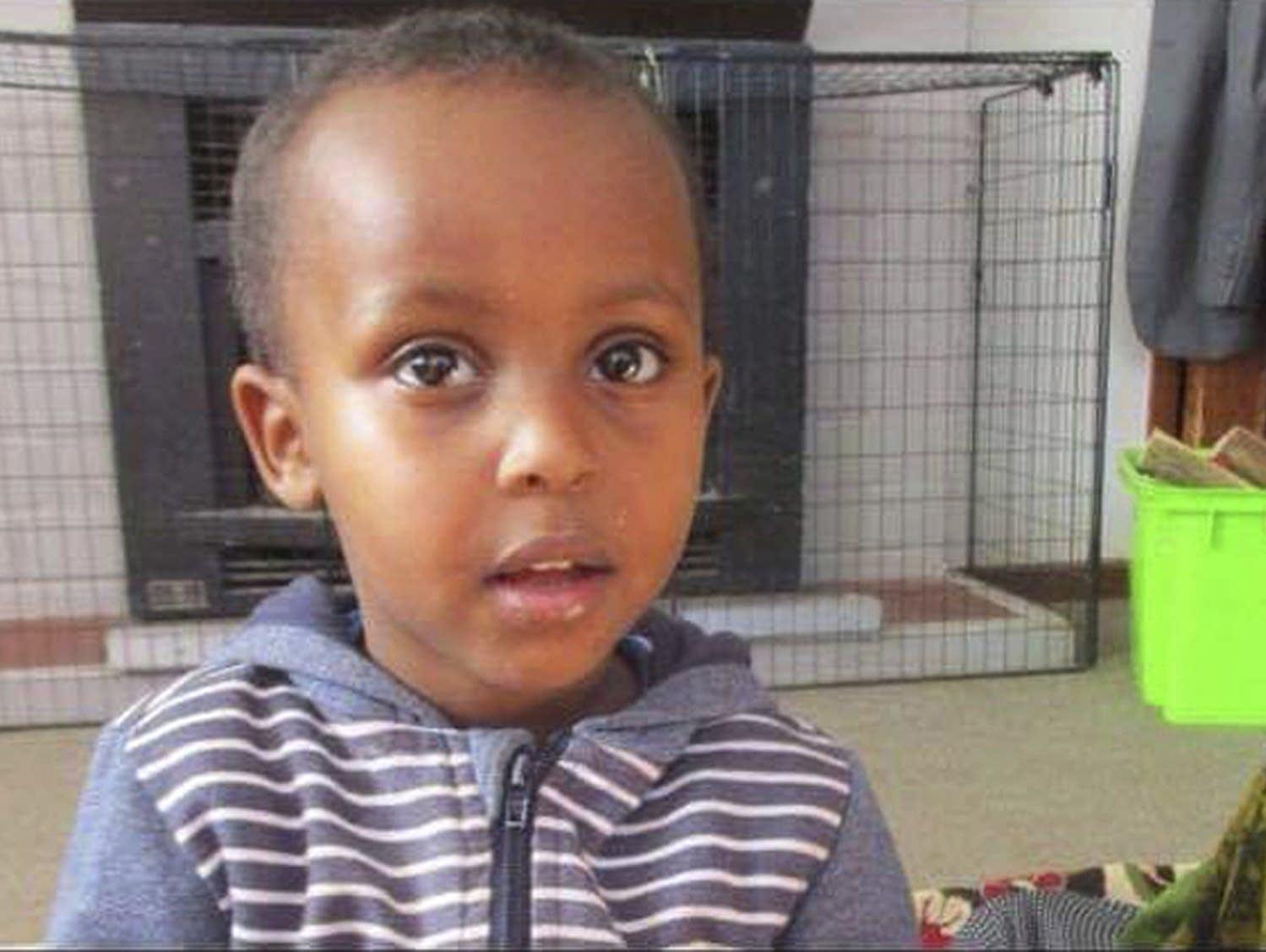 Three-year-old Mucaad Ibrahim