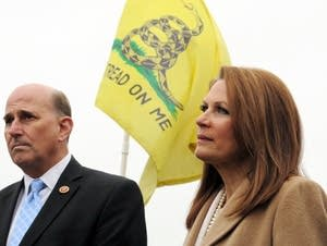 Michele Bachmann is seen at a rally in 2014.