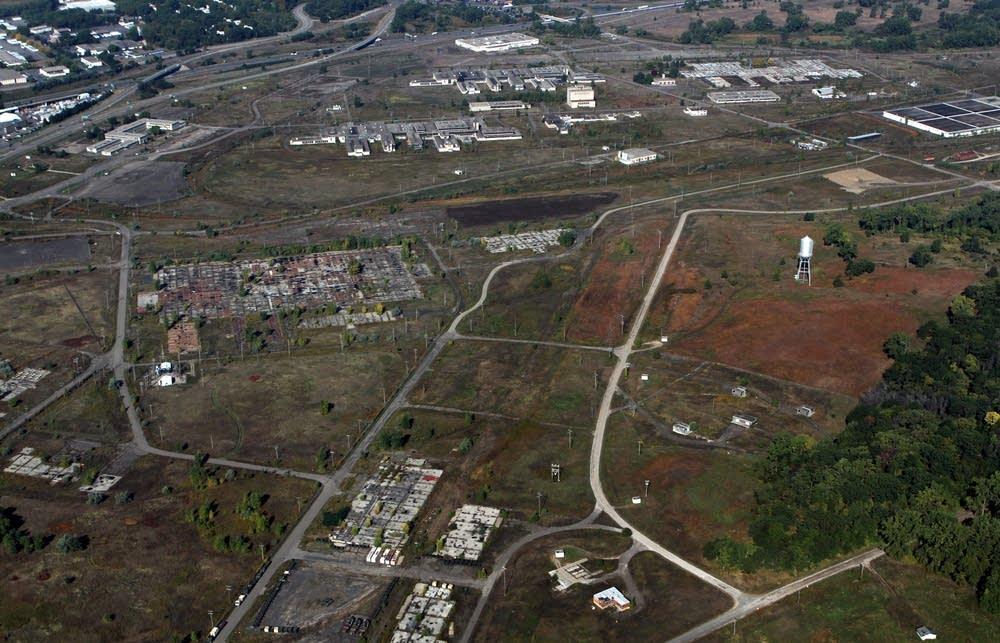 Proposed Vikings stadium site
