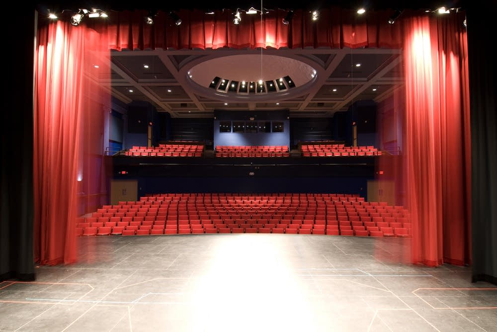 The new theater auditorium