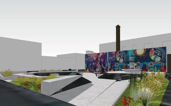 Young apprentices at Juxtaposition Arts are designing a public plaza.