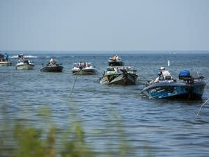 Anglers on Lake Winnibigoshish returned to shore.