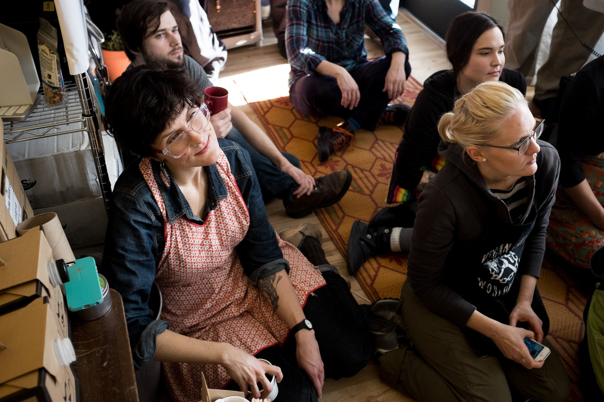punk rawk labs, employees, coffee break