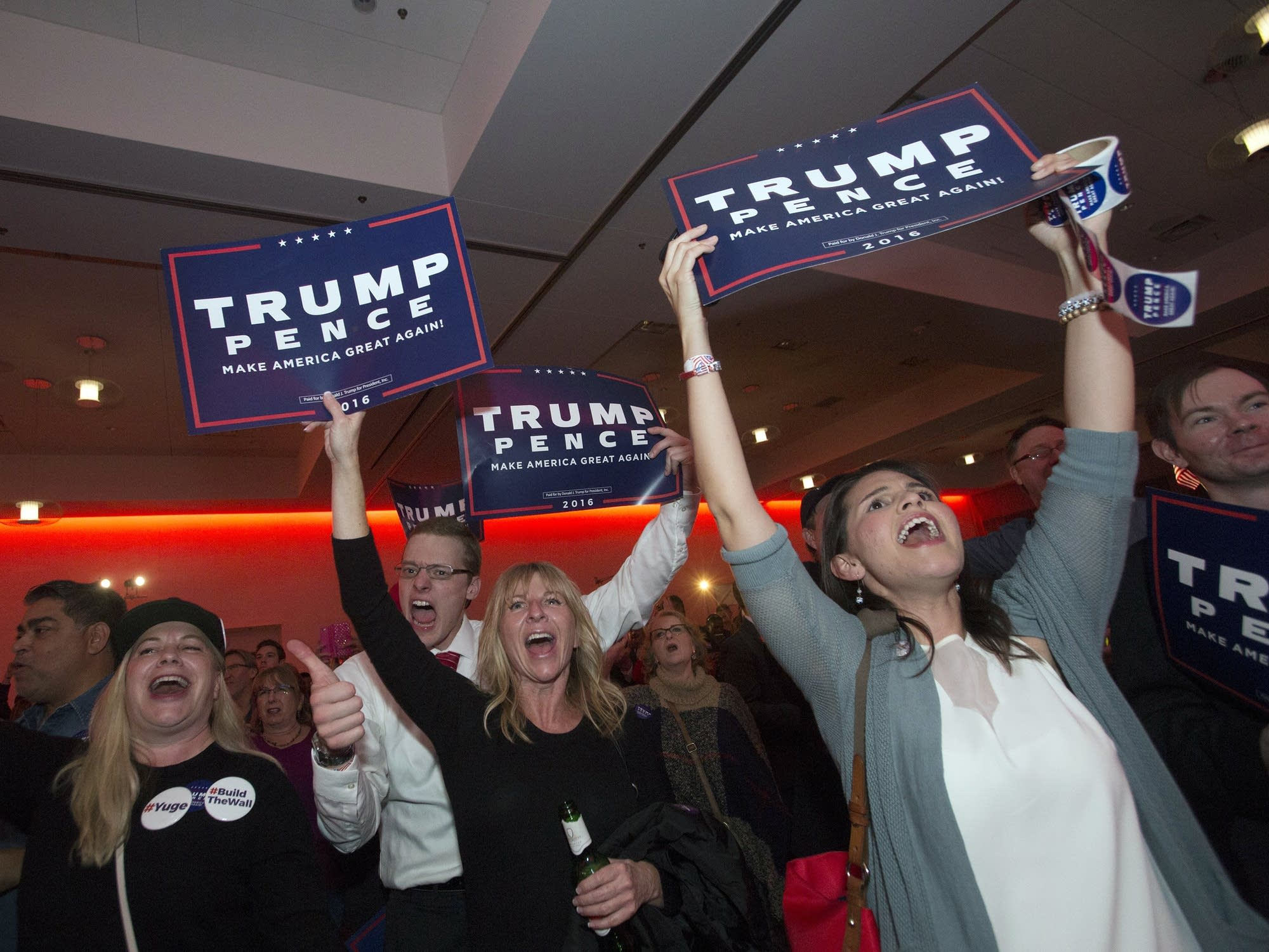 photos  minnesotans cheer and mourn election results