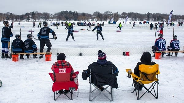 U.S. Pond Hockey Championships on Lake Nokomis in Minneapolis