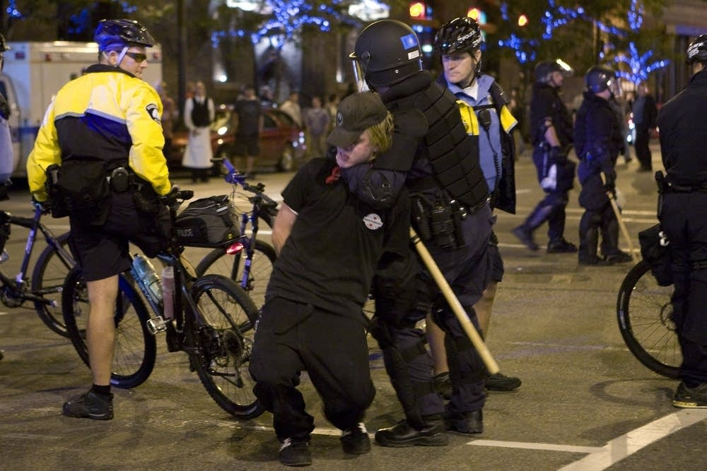 Arrest outside of 'Rage' concert