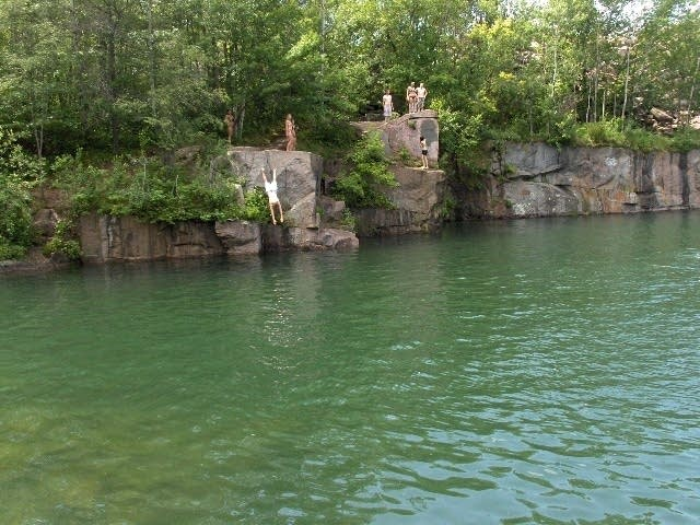 Jump into the quarry