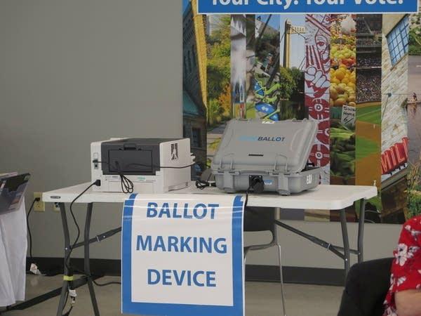 A ballot marking device.