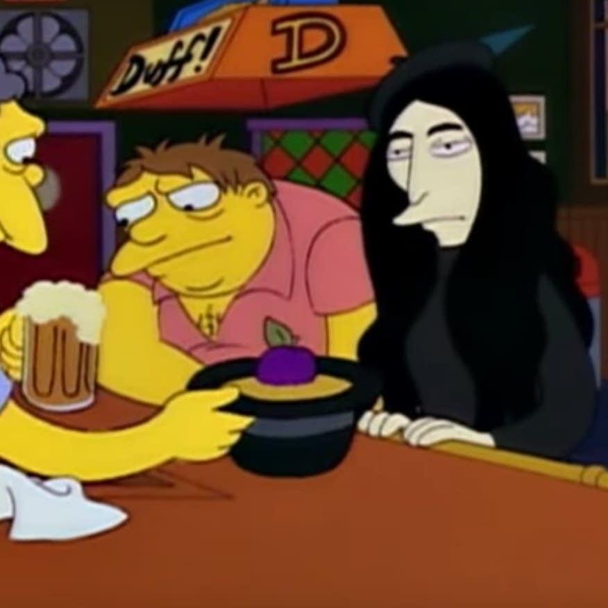 'Yoko Ono' parodied on 'The Simpsons'
