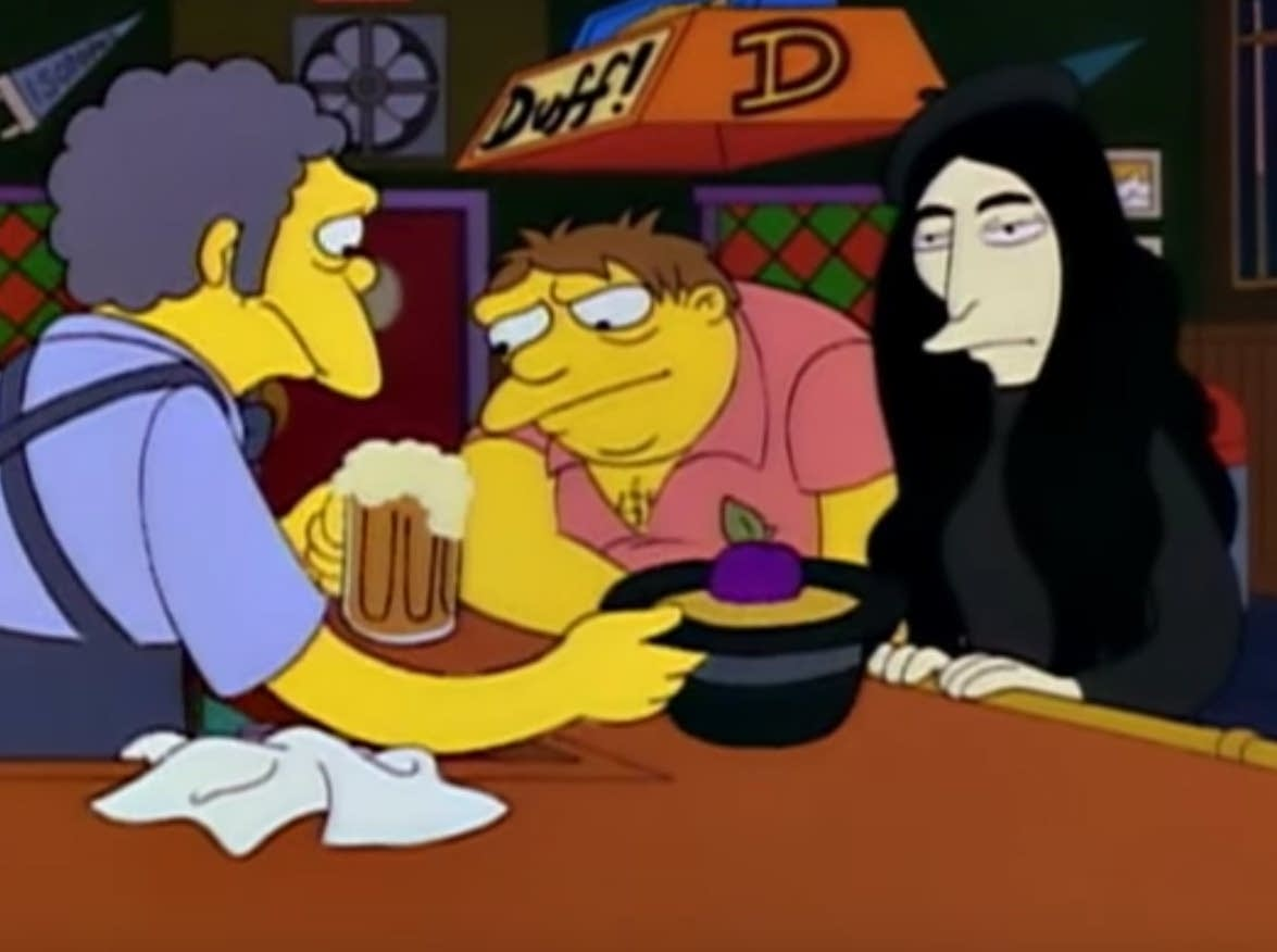 'Yoko Ono' parodied on 'The Simpsons'
