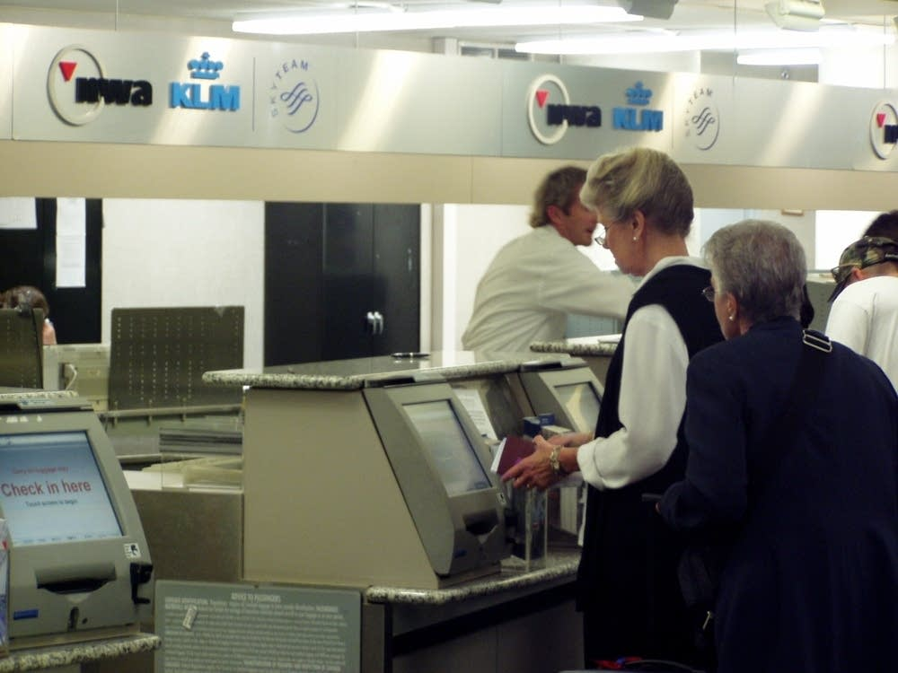 Northwest Airlines ticket counter