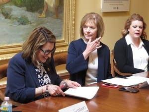 Sen. Tina Smith and Lt. Governor Peggy Flanagan