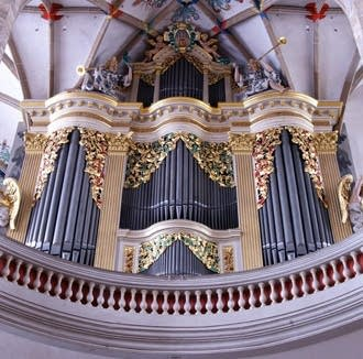1714 Silbermann at Cathedral, Freiberg, Germany