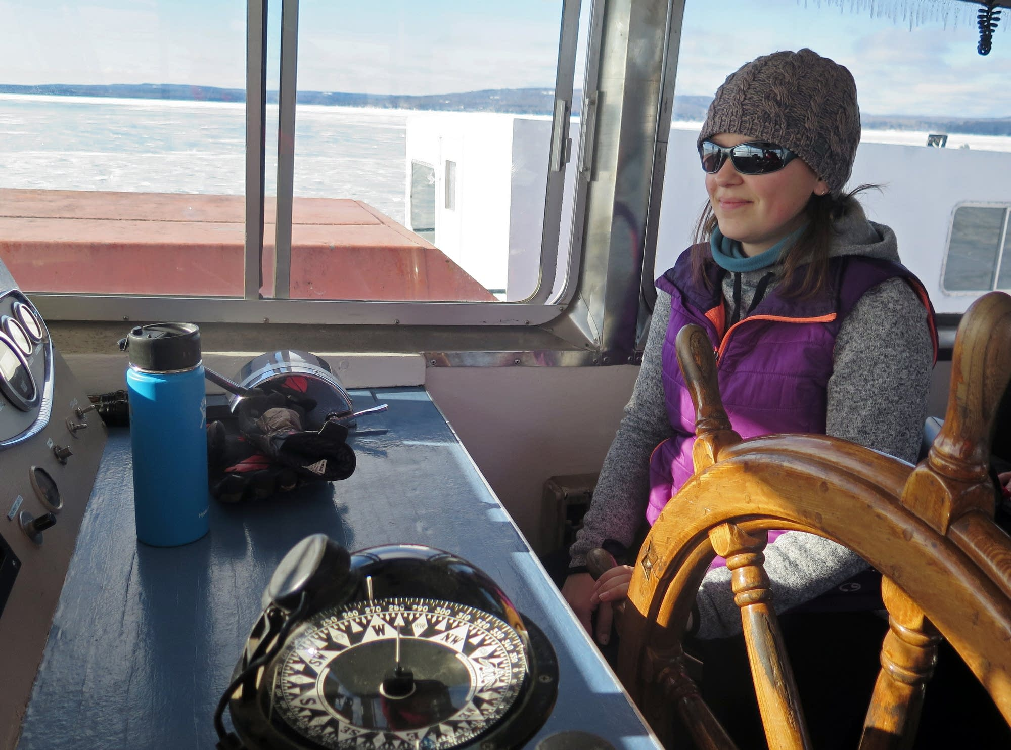 Shannon Mager, captain for the Madeline Island Ferry Line